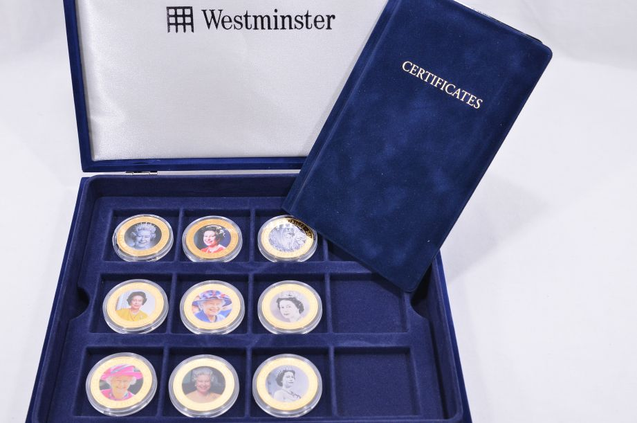 Westminster Queen Elizabeth II Diamond Jubilee 9 Coin Collection 2012