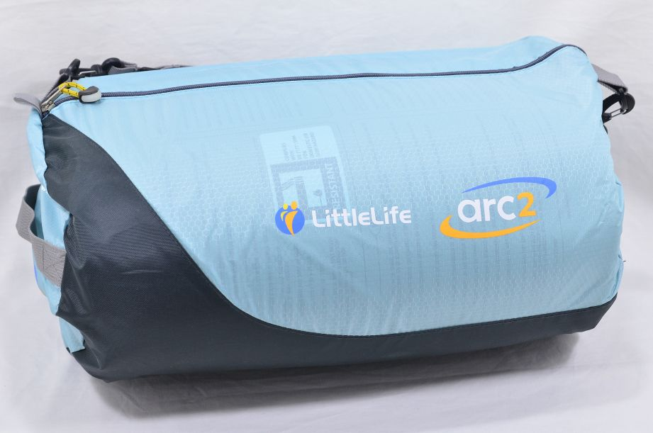 LittleLife Arc 2 Lightweight Travel Cot - Light Blue 1