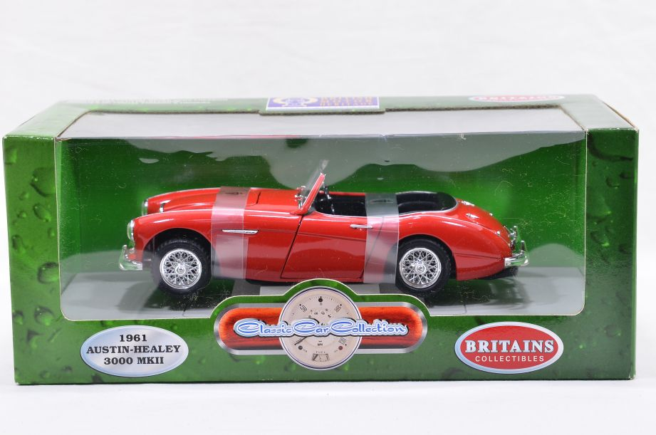 ERTL 1/18 1961 Austin-Healey 3000 MK II Diecast Classic Collectable Car Red 7460