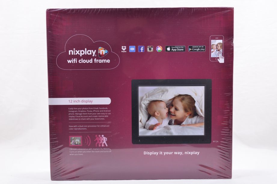 Nixplay 12 Inch Wi-Fi Cloud Digital Photo Frame