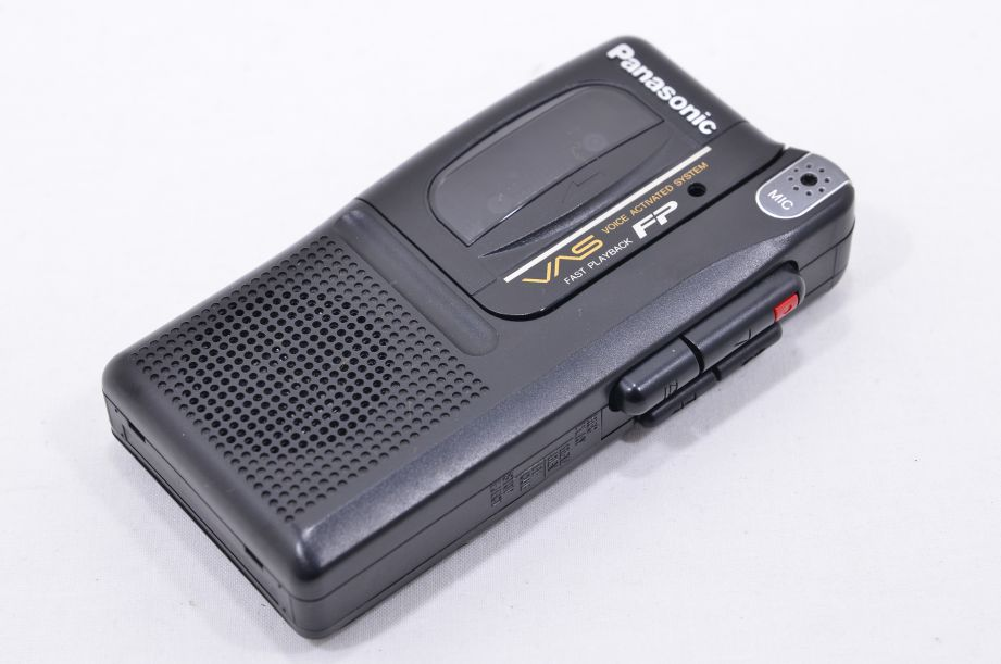 Panasonic RN-302 Handheld Microcassette Voice Activated Recorder - Black