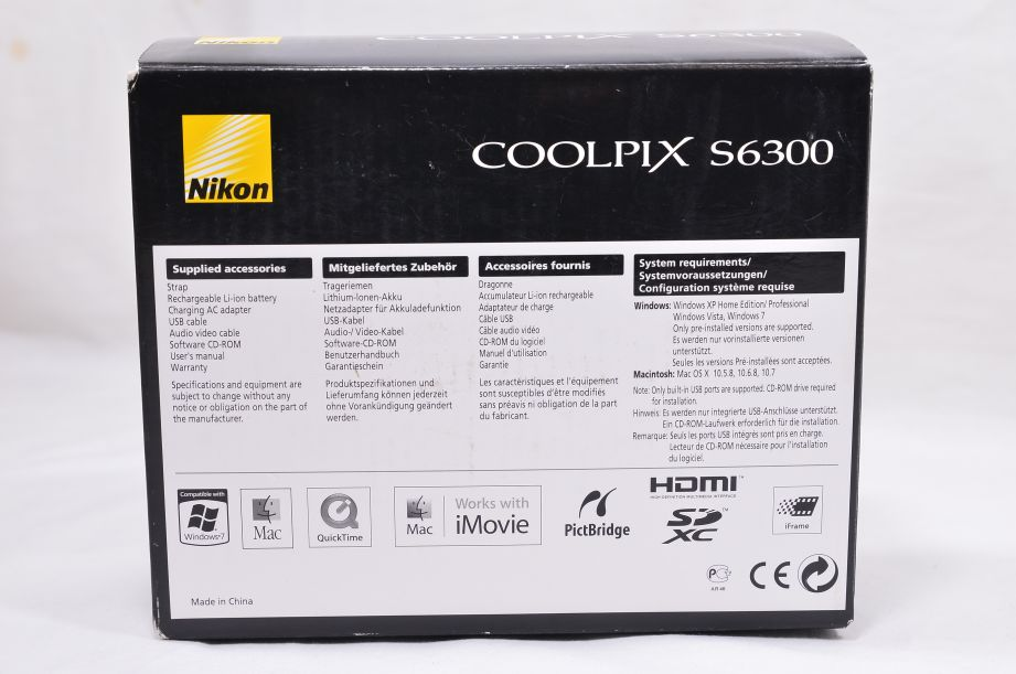 Nikon COOLPIX S6300 16.0MP Digital Camera - Black & 8GB SD Card 15