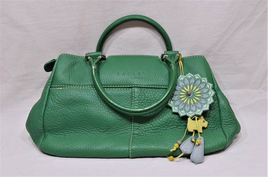 Radley London Green Leather Handbag with Dust Bag
