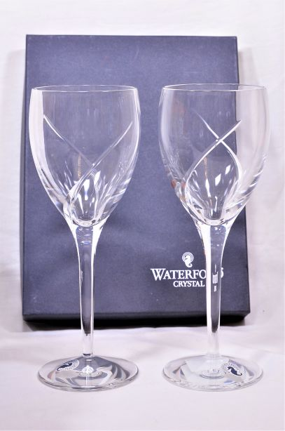 Waterford Crystal Siren Red Wine Glass Pair Boxed 1