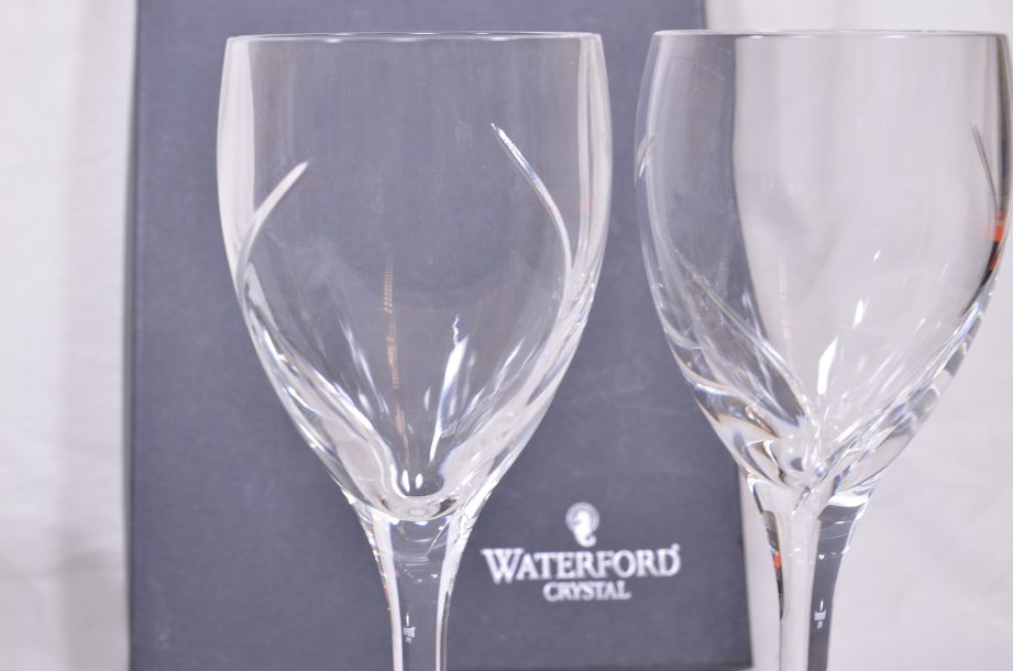 Waterford Crystal Siren Red Wine Glass Pair Boxed 5