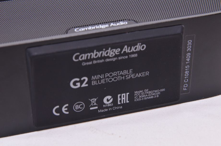 Cambridge Audio G2 Mini Portable Bluetooth Speaker - Black 14