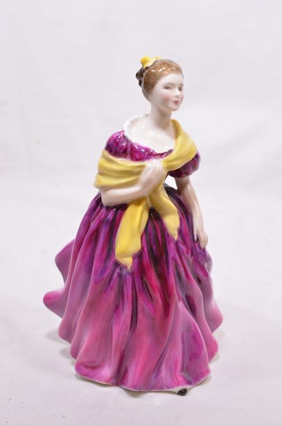 Royal Doulton Figure - Adrienne [1963] Lady in Pink Dress HN2152