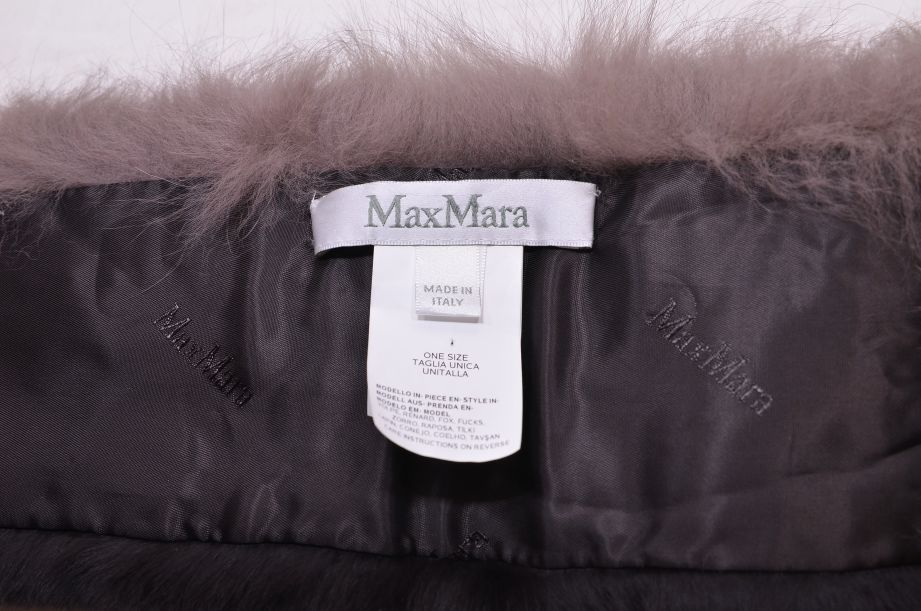 Max Mara Italian Fox Fur Collar 6