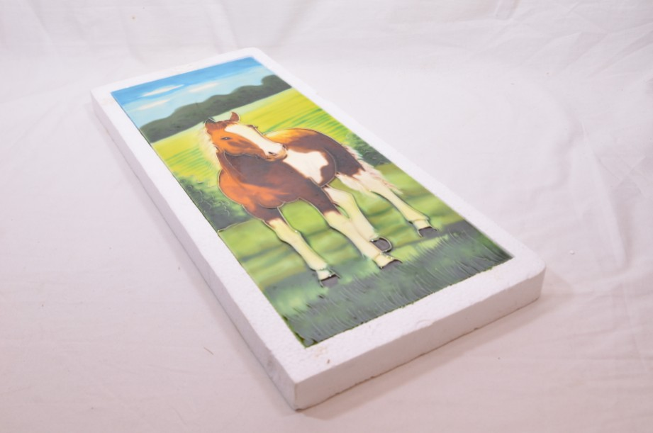 YH Ceramics - Hand crafted wall art - Equestrian Beauty - Horse Tile Picture 6