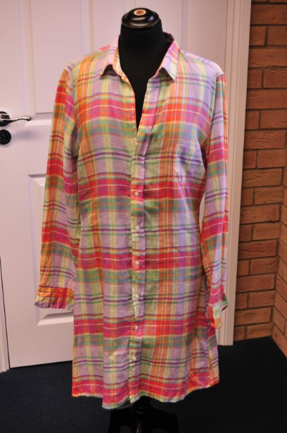 Frank and Eileen Checked Murphy Linen Dress size XL