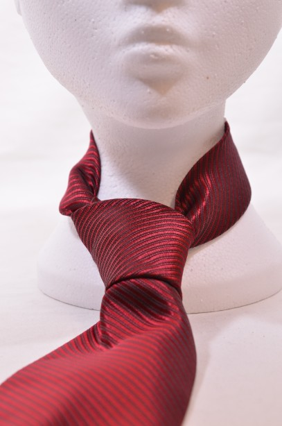 Giorgio Armani Deep Red Striped Tie - 100% Silk