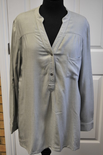 East All Season Shirt/Blouse in Grey Size 16