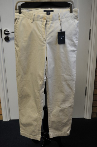 Gant Satin Beige Chino Trousers size 12 BNWT