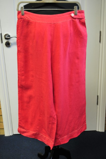 Toast Pale Light Red Linen Cropped Trousers size 10