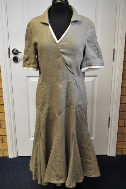 Fenn Wright Manson Pale Green Linen Dress size 14