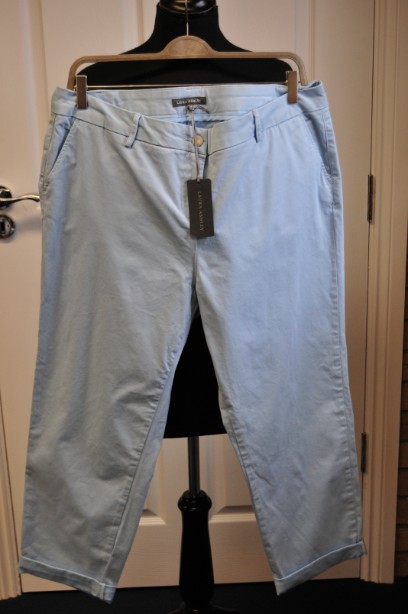 Laura Ashley Soft Bluebell Colour Slim Trousers size 18 BNWT