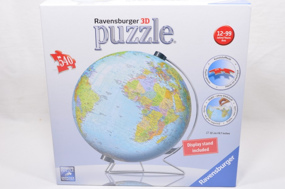 Ravensburger 3D Globe 450 Pieces Jigsaw Puzzle on Stand #12436