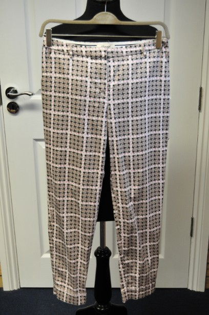 Somerset by Alice Temperley Checked Cropped Cotton Trousers size 10