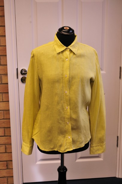 Weekend MaxMara Lime Green Linen Shirt/Blouse size 42 uk 12