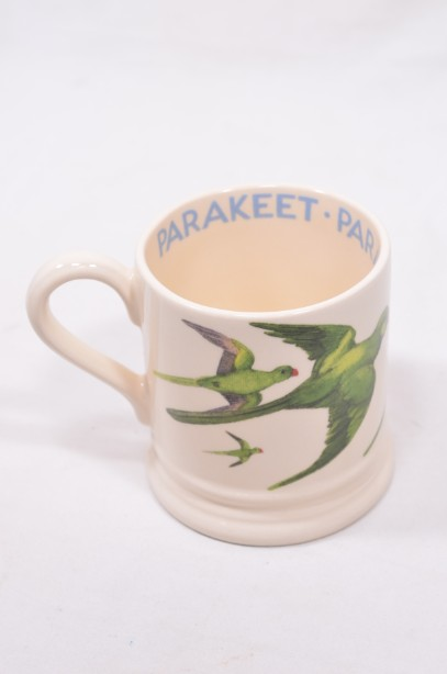Rare Emma Bridgewater Parakeet Mug - 1/2 Pint - 25 years of E. Bridgewater
