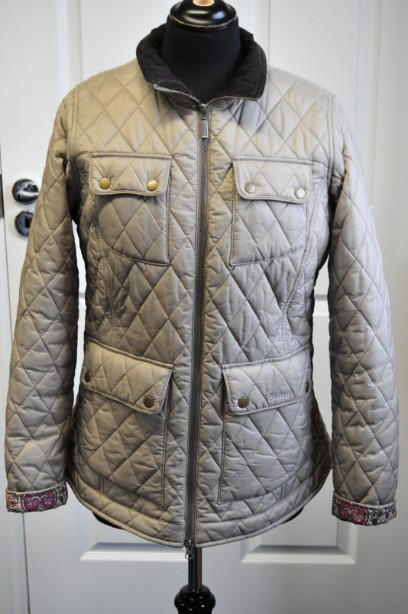 Women's Barbour Liberty Abbey Quilt Jacket  in Taupe size 14