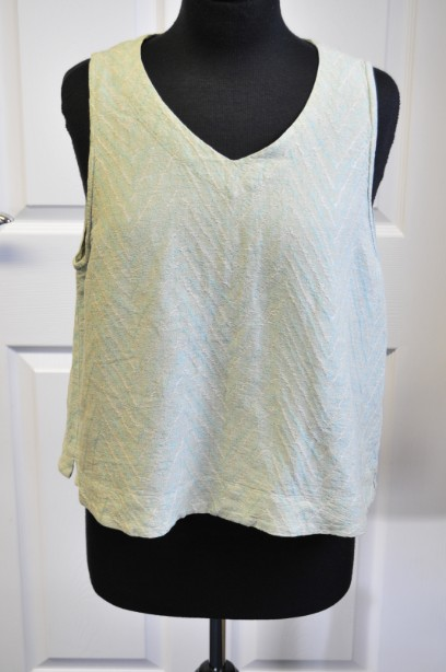 Women's OSKA  Kate Top/Vest  in Washed Green size 14/16(Size 4)