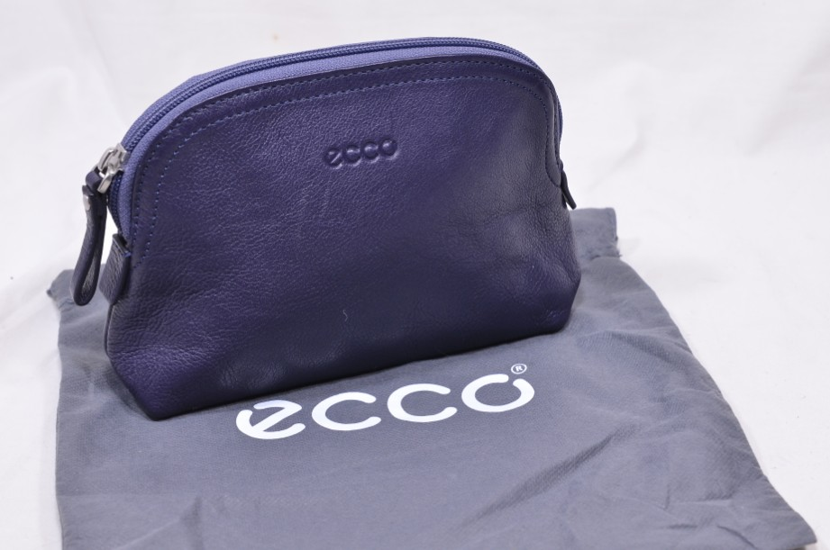Ecco Purple Cow Leather Pouch with Zip
