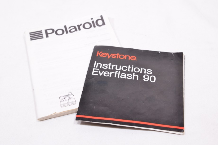 Polaroid The Button Land Camera Instant SX-70 Film Camera with Everflash 90 10