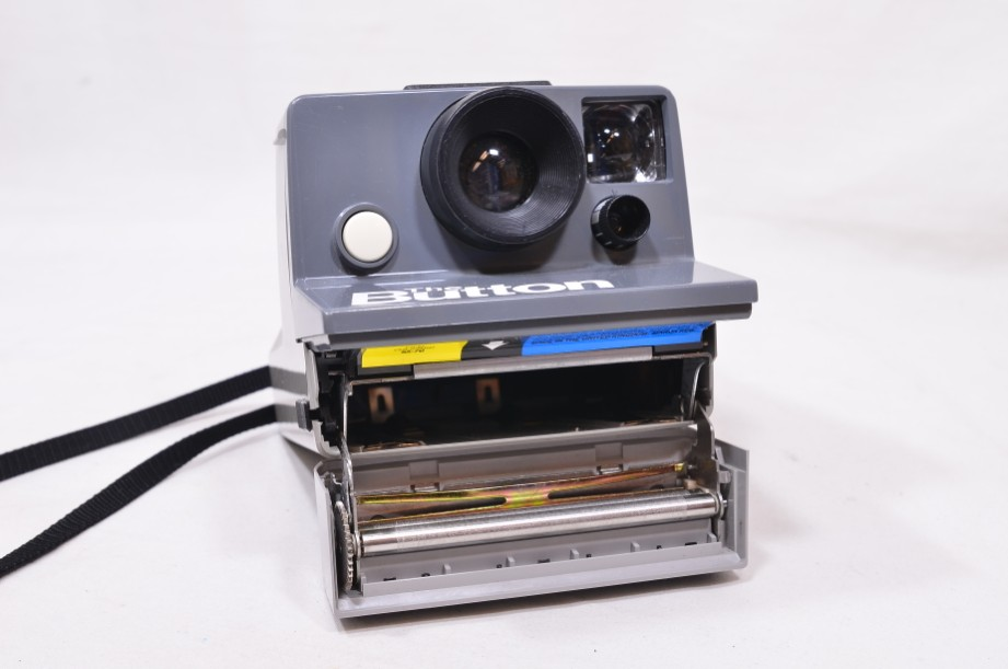 Polaroid The Button Land Camera Instant SX-70 Film Camera with Everflash 90 6