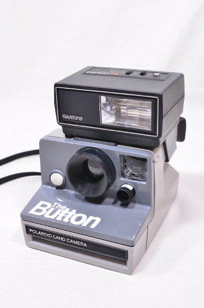 Polaroid The Button Land Camera Instant SX-70 Film Camera with Everflash 90 7