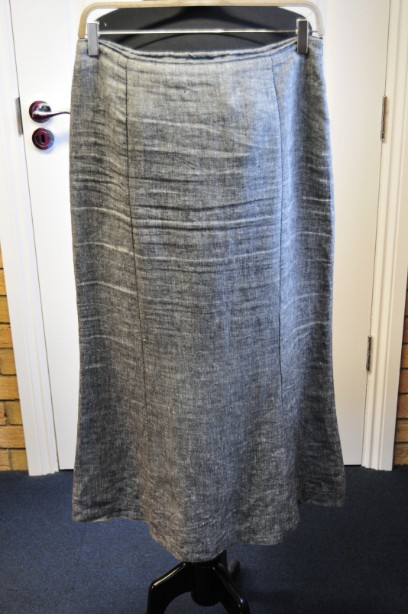 Women's Hobbs Linen Black and White Skirt size 12