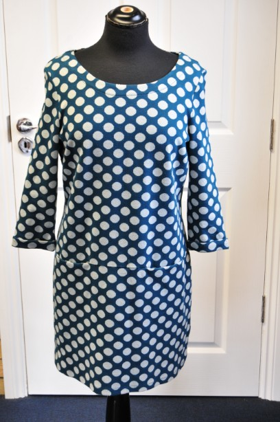 Ladies White Stuff spotted tunic/dress Teal and grey lovely condition