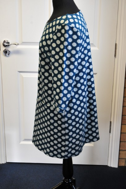 Ladies White Stuff spotted tunic/dress Teal and grey lovely condition 5