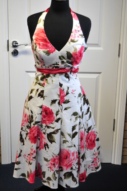 Women's Debut Rose Print Halterneck Summer Dress size 6 BNWT