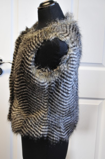 Women's Warehouse Faux Fur Gilet in Grey and Black size M 4