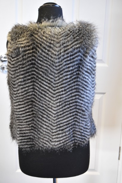 Women's Warehouse Faux Fur Gilet in Grey and Black size M 5