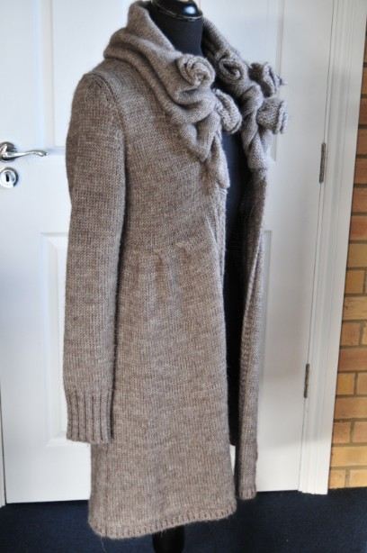 Women's Phase Eight Chunky Knit Cardigan in Taupe size M 2