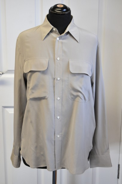 Women's Ralph Laurent Silk Shirt/Blouse in Taupe size 10