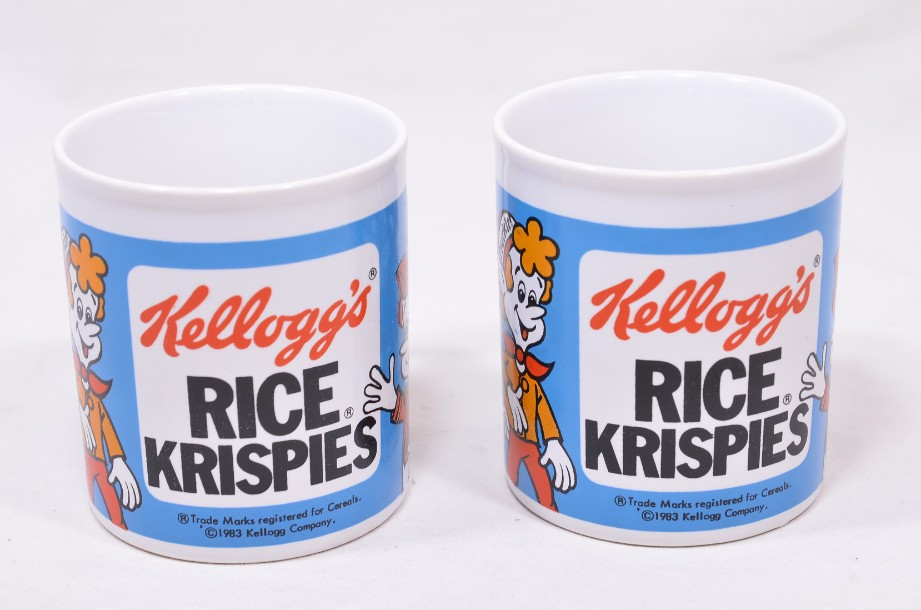 Pair of Vintage Kelloggs Rice Krispies Mugs - Boxed