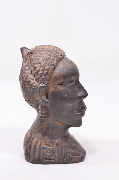 Male and Female African Wooden Hand-Carved Heads 10
