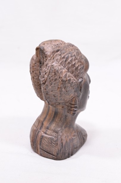 Male and Female African Wooden Hand-Carved Heads 11