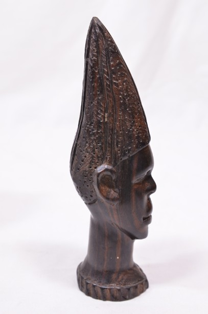 Male and Female African Wooden Hand-Carved Heads 13