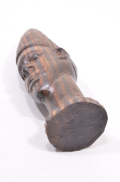 Male and Female African Wooden Hand-Carved Heads 15