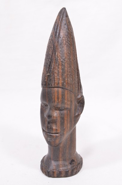 Male and Female African Wooden Hand-Carved Heads 2