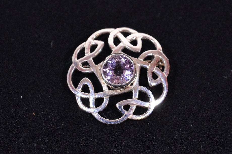 Beautiful Ortak [Orkney Scotland] Celtic Style Sterling Silver Knot Brooch