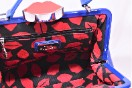 Rare Lulu Guinness Cobalt Blue Red Lips Patent Bag With Shoulder Strap Thumbnail 7