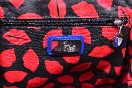 Rare Lulu Guinness Cobalt Blue Red Lips Patent Bag With Shoulder Strap Thumbnail 9