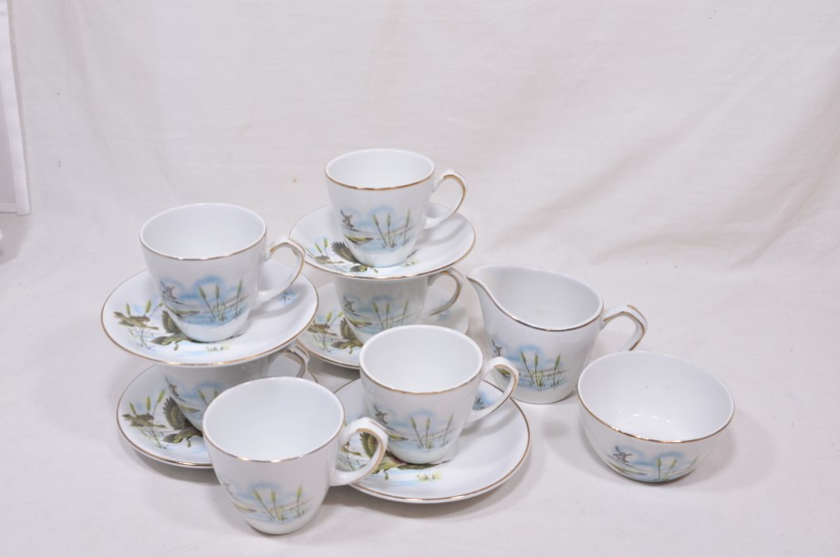 Vintage Alfred Meakin Glo-White Ironstone Coffee Set of 13 Pieces