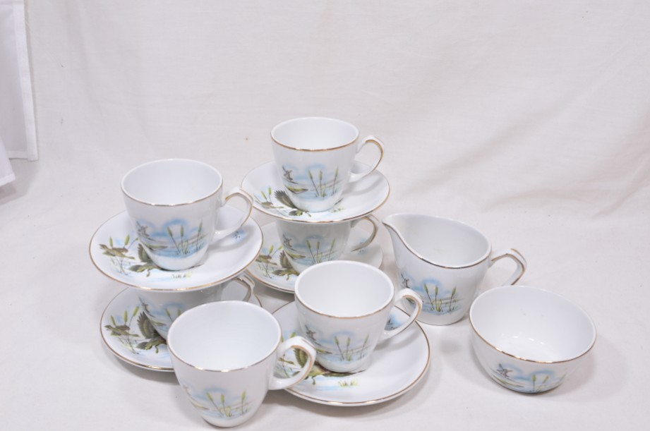 Vintage Alfred Meakin Glo-White Ironstone Coffee Set of 13 Pieces 2