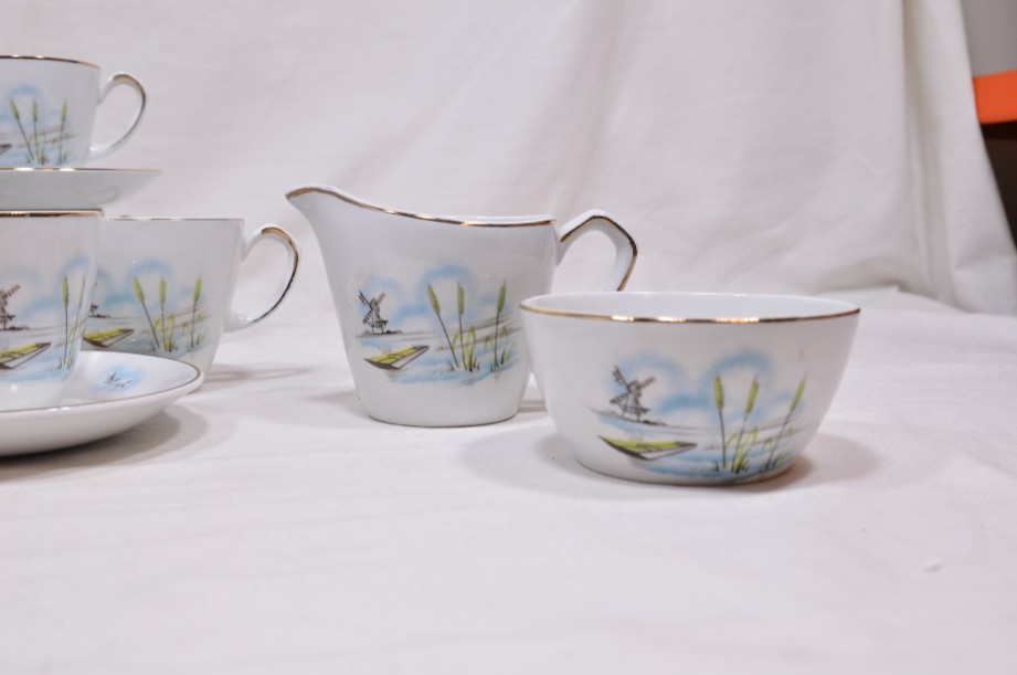 Vintage Alfred Meakin Glo-White Ironstone Coffee Set of 13 Pieces 5
